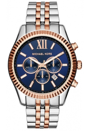MICHAEL KORS MIchael Kors Lexington Chronograph Navy Dial Two-tone Unisex Watch