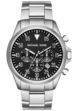 MICHAEL KORS Gage Silver-Tone Watch 45mm