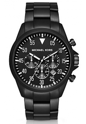MICHAEL KORS Gage Black-Tone Watch 45mm