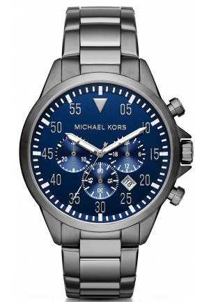 MICHAEL KORS  Gage Gunmetal-Tone Watch 45mm