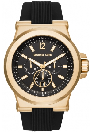 MICHAEL KORS  Dylan Gold-Tone And Silicone Watch 48mm