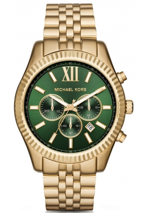 MICHAEL KORS  Lexington Gold-Tone Watch 45mm