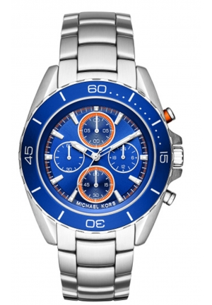 MICHAEL KORS Jetmaster Blue Dial Chronograph Men's Watch 43 mm