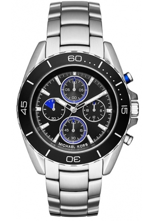 MICHAEL KORS Jetmaster Black Dial Chronograph Men's Watch 43mm