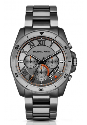 MICHAEL KORS Brecken Grey Dial Chronograph Men's Watch 44mm MK8465