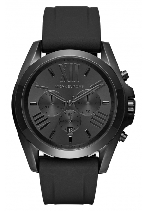 Bradshaw Black-Tone and Silicone Watch