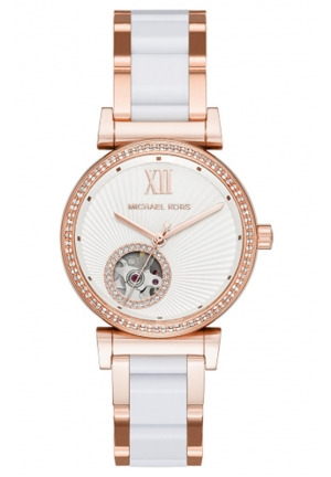 MICHAEL KORS White Mini Catlin Watch