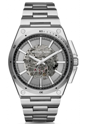 MICHAEL KORS  Wilder Automatic Silver-Tone Watch