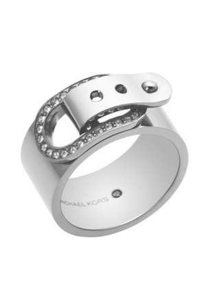 MICHAEL MICHAEL KORS SILVER-TONE BUCKLE RING