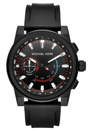 MICHAEL KORS ACCESS Grayson Black-Tone and Silicone Hybrid Smartwatch