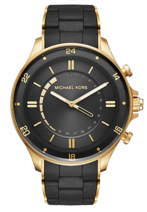 MICHAEL KORS ACCESS Reid Gold-Tone and Silicone Hybrid Smartwatch