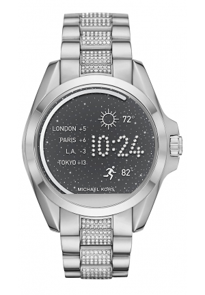 ACCESS BRADSHAW SILVER-TONE SMARTWATCH 44.5MM