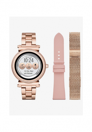MICHAEL KORS ACCESS Sofie Pavé Rose Gold-Tone Smartwatch Set