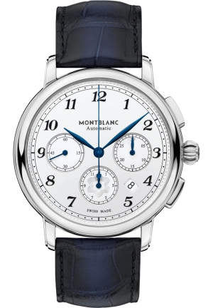 Montblanc Star Legacy Chronograph Automatic Silver Dial Watch 118514