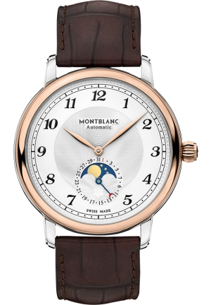 Montblanc Star Legacy Moonphase Automatic Silver Dial Men's Watch 117580