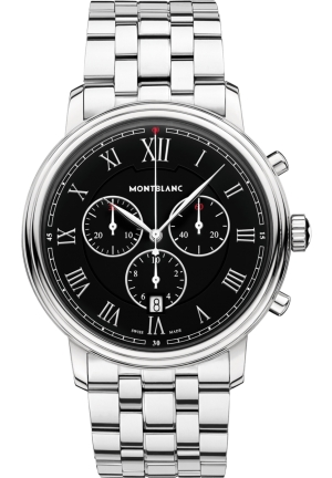 Montblanc Tradition Chronograph Black Dial Men's Watch 117048