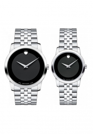 Movado Couple Museum Watch 0606505 0606504