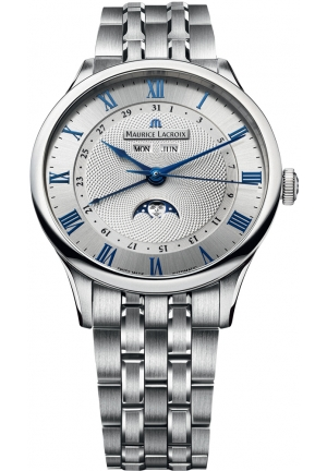 MAURICE LACROIX Masterpiece Tradition Silver Dial Steel Men's Watch 40mm