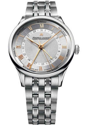 MAURICE LACROIX Masterpiece Silver Dial Automatic Men's Watch 40mm