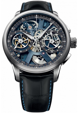 MAURICE LACROIX Masterpiece Le Chronographe Squelette Mens Watch 45mm