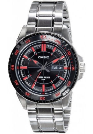 Casio STANDARD Enticer Analog Black Dial Men's Watch 52MM