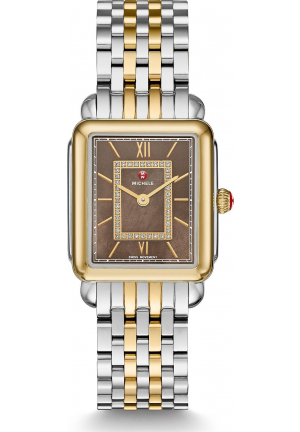 MICHILE DECO LL MID COCOA DIAMOND WATCH 26.5*29MM