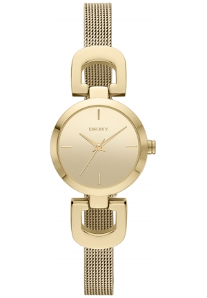 DKNY Gold-Tone Stainless Steel Mesh Bracelet 24mm