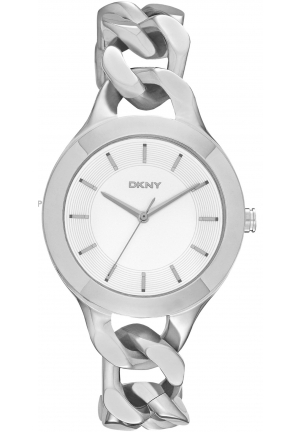 DKNY Chambers White Pearlized Dial Stainless Steel Ladies Watch NY2216