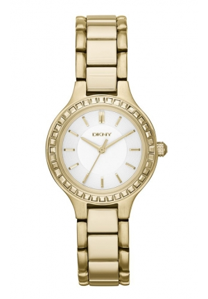 Chambers Gold-Tone Watch with Glitz 28mm