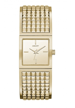 DKNY Bryant Park Gold-Tone Wide Bangle Watch 21mm x 21mm