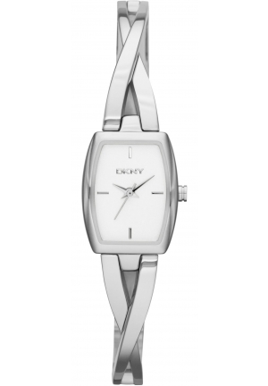 DKNY Womens Crosswalk Silver-Tone Quartz Watch