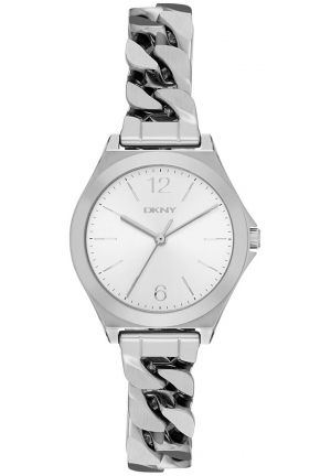 DKNY Parsons Silver Dial Ladies Stainless Steel Watch NY2424