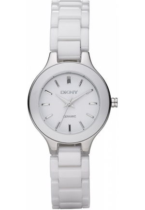 DKNY Broadway Women's White Ceramic Bracelet 31mm