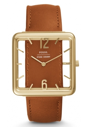 FOSSIL X OPENING CEREMONY TWO-HAND LUGGAGE LEATHER WATCH