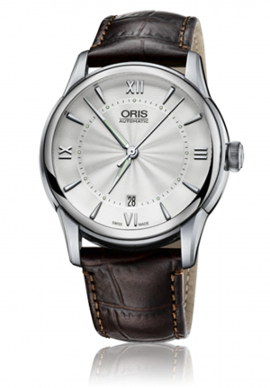Oris Artelier Automatic Silver Dial Brown Leather Men's Watch 733-7670-4071LS, 01 733 7670 4071 07 5 21 70FC