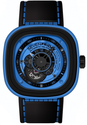 SEVENFRIDAY Industrial Essence Blue Dial Automatic Men's Watch