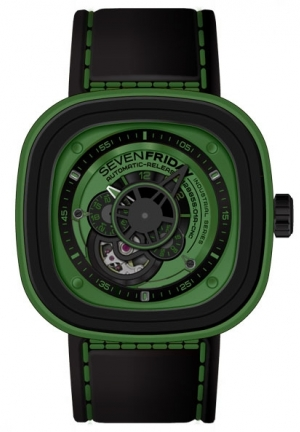 SEVENFRIDAY Industrial Essence Automatic Green Dial Men's Watch P1-5, p1/05
