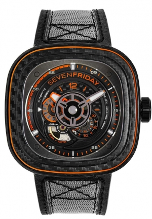 Sevenfriday P3C/09 - Orange Carbon