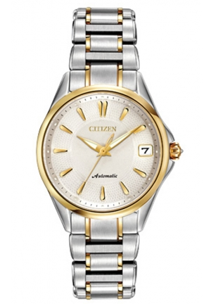 Citizen Women's Grand Classic Analog Display Automatic Self Wind Two Tone Watch
