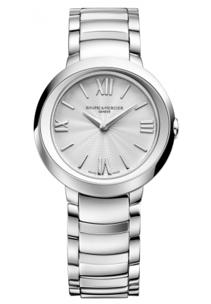 BAUME & MERCIER Promesse Silver Dial Stainless Steel Ladies Watch 30MM