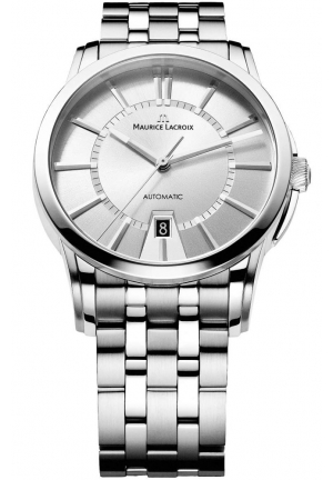 Maurice Lacroix Pontos Date Silver Dial Men's Automatic Stainless Steel Watch PT6148-SS002-130