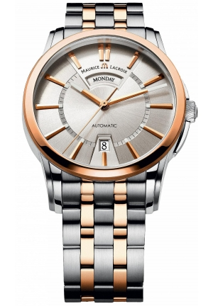 MAURICE LACROIX Pontos Day & Date Silver Dial Automatic Men's Watch 40mm
