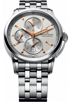 MAURICE LACROIX Pontos Automatic Silver Dial Men's Watch 43 mm