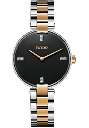 RADO Women's Swiss Coupole Diamond Accent Two-Tone Stainless Steel Bracelet Watch R22850703 33mm