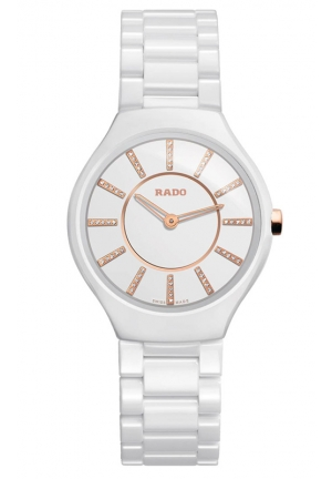 RADO Thinline Jubile White Ceramic Ladies Watch R27958702