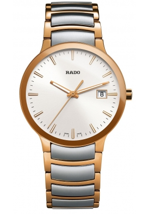 RADO Men's Swiss Centrix Two-Tone Stainless Steel Bracelet R30554103 38mm