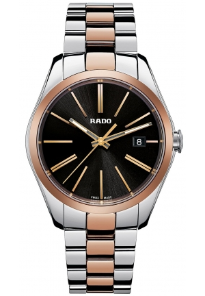 RADO Hyperchrome Rose Ceramos Steel Black Dial Quartz Watch R32184152 40mm