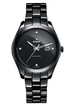 RADO Hyperchrome Automatic Diamond Black Ceramic Ladies Watch R32260702 36mm