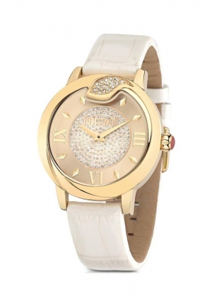 Just Cavalli Women's Leather Spire Quartz Watch
