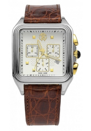 Roberto Cavalli Venom Men's Brown Genuine Crocodile Chronograph Watch